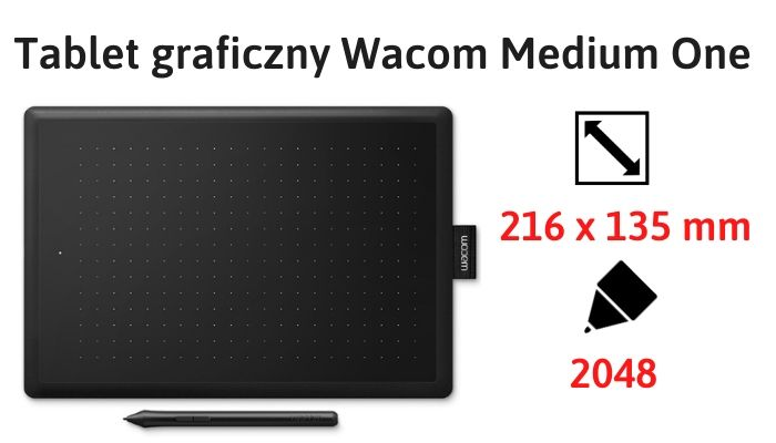 Tablet graficzny Wacom One Medium