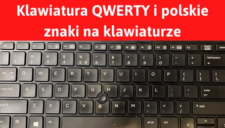 Polska klawiatura QWERTY i znaki na klawiaturze