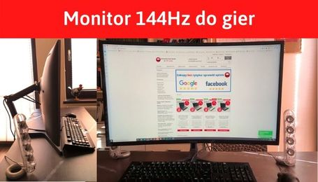 Monitor 144Hz do grania curved Samsung