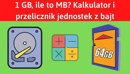 Kalkulator i przelicznik jednostek z bajt na megabajt